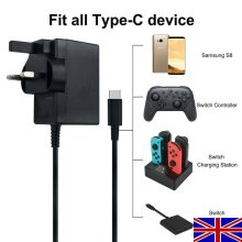 For Nintendo Switch Mains Adapter Charger Plug Fast Charging Power