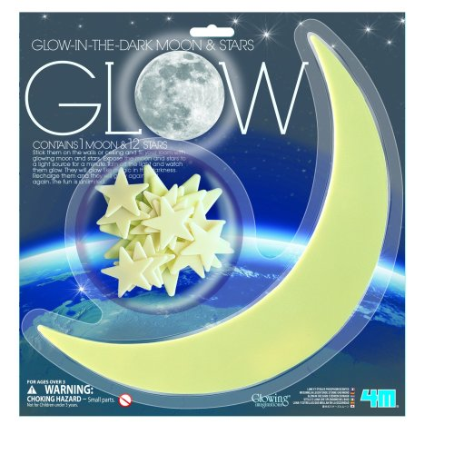 Glow in the Dark Large Moon and Stars - 4M
