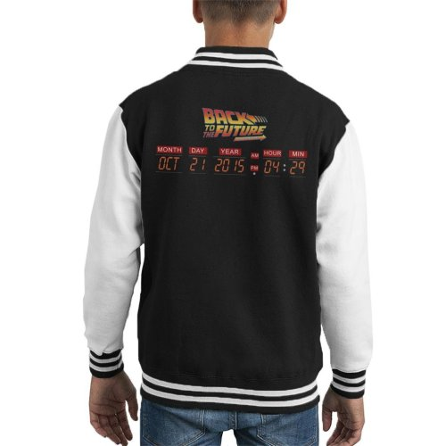 DeLorean Count Down Time Machine Back To The Future Kid's Varsity Jacket