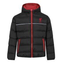 Liverpool FC Boys Jacket Hooded Winter Quilted Kids OFFICIAL Football Gift