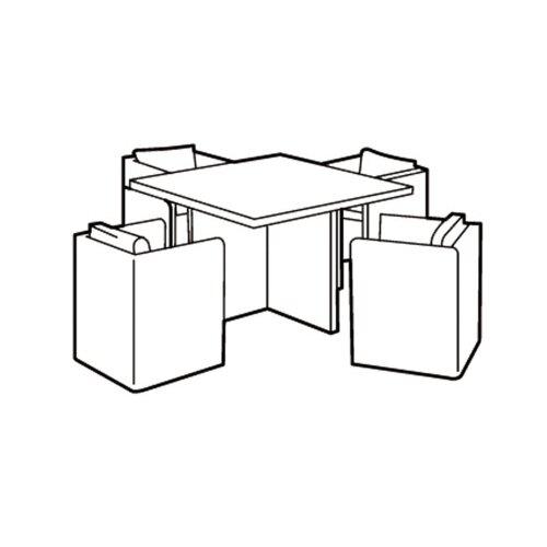 4 Seater Large Cube Set Cover - Super Tough Polyethylene