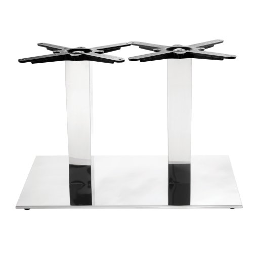 Chrome Rectangular Table Base - Twin - Coffee height - 450 mm