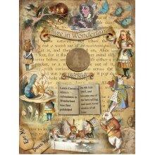 "Alice In Wonderland ""Where It All Began"" Original 1865 Penny Metal Info Plaque"