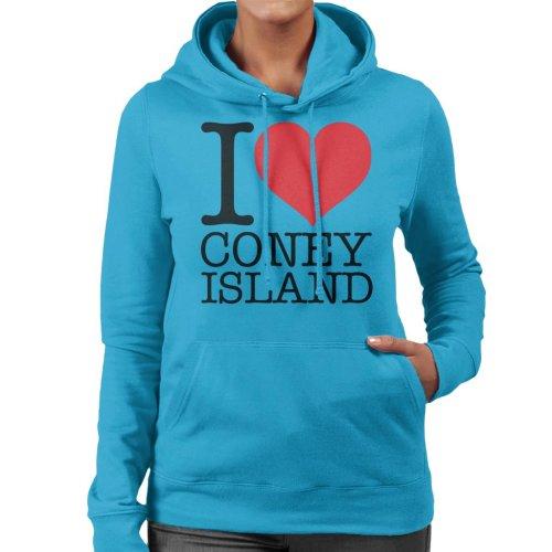 I Love Coney Island Women's Hooded Sweatshirt