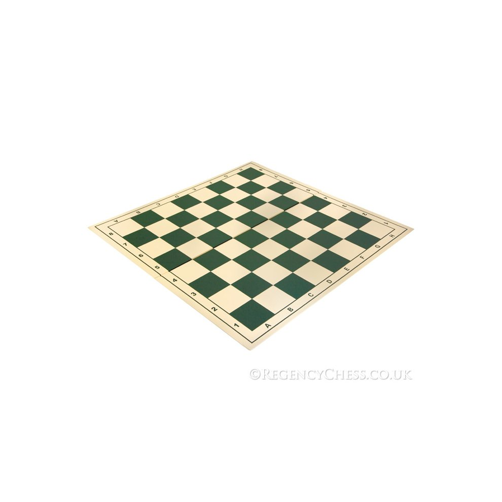 20 inch Folding Vinyl Chess Board Green