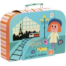 Vilac Set of Three Cardboard Nesting Suitcases