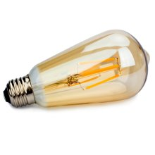 ST64 E27 4W Vintage Filament LED Dimmable light  Bulb