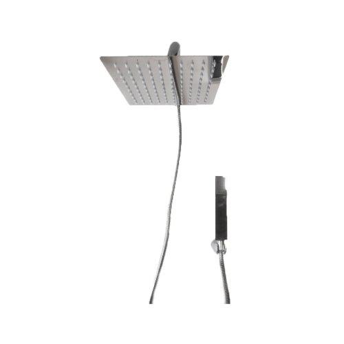 Shower set with diverter, shower arm 30 cm