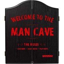 WINMAU Man Cave Printed Wooden Dartboard Cabinet