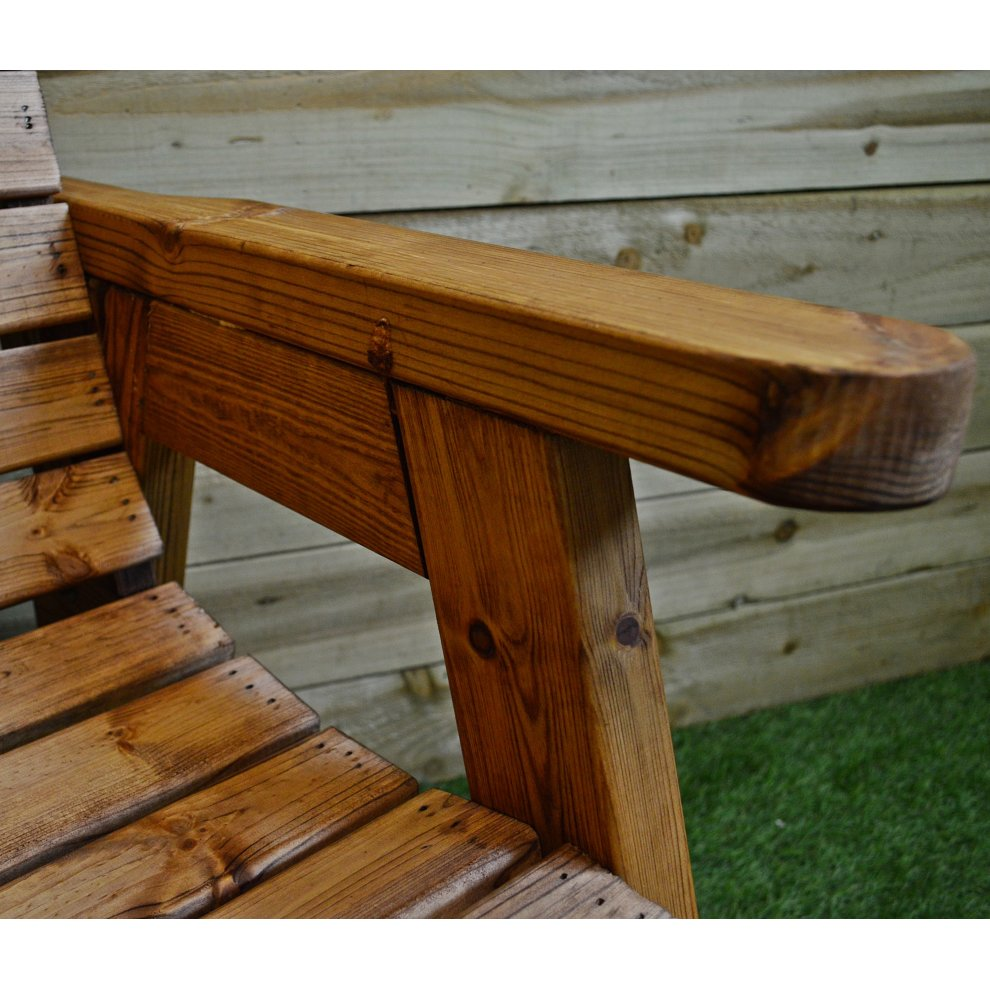 Hand Made 2 Seater Chunky Wooden Garden Furniture Love ...