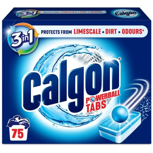 Calgon 3-in-1 Washing Machine Water Softener Tablets, 75 Tabs