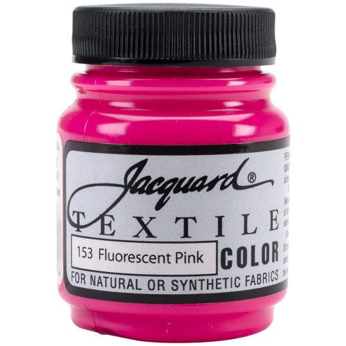 Jacquard Textile Color Fabric Paint 2.25oz-Fluorescent Pink