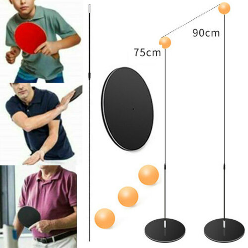 Kids Table Tennis Trainer Shaft Soft Ping-Pong Training Exercise Toy Set