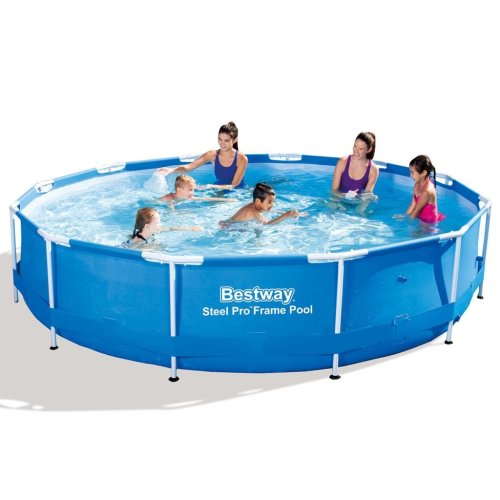 Bestway Steel Pro Swimming Pool - 12ft   Round Above Ground Pool