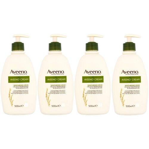 Aveeno Moisturising Cream 500ml - Pack of 4