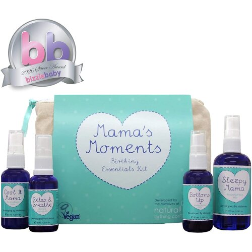 Natural Birthing Company Mama's Moments Birthing Essentials Kit- Everything A New Mum Will Need & Perfect Baby Shower Gift