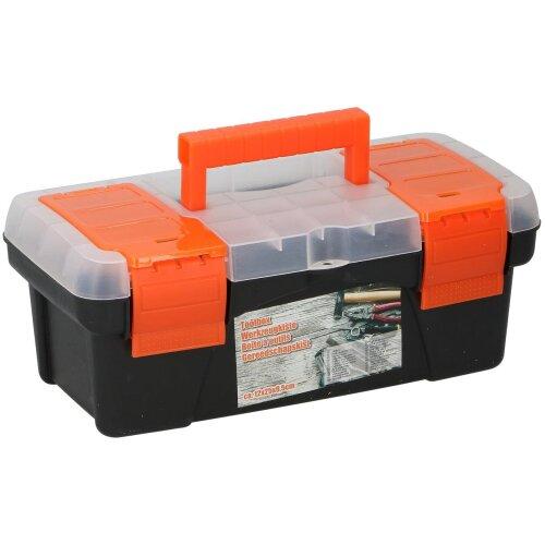 Toolbox 25x12x9.5cm Tool case plastic black strong
