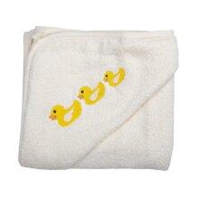 Ducks Baby Hooded Towel Cream