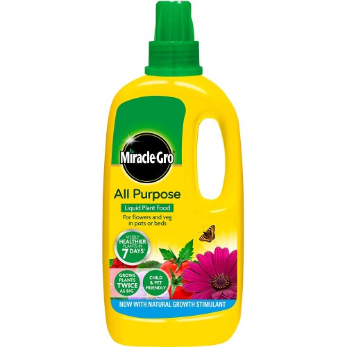 Miracle Gro All Purpose Concentrated Liquid Plant Food 1L Grows Plants
