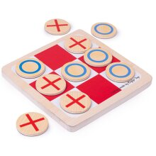 Bigjigs Toys Wooden Noughts and Crosses Game