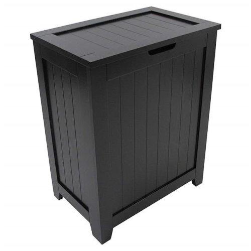 Redmon 5220BK Contemporary Country Laundry Hamper, Black