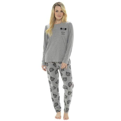 Ladies Sleepy Head Bear Design Pyjama Set