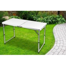 4FT HEAVY DUTY FOLDING TABLE PORTABLE PLASTIC CAMPING GARDEN PARTY