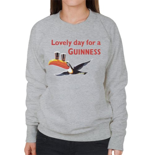 (XX-Large, Heather Grey) Lovely Day For A Guinness Women's Sweatshirt