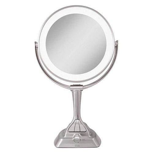Zadro LVAR410 LED Light Dimmable Dual-Sided Vanity Mirror, Satin Nickel