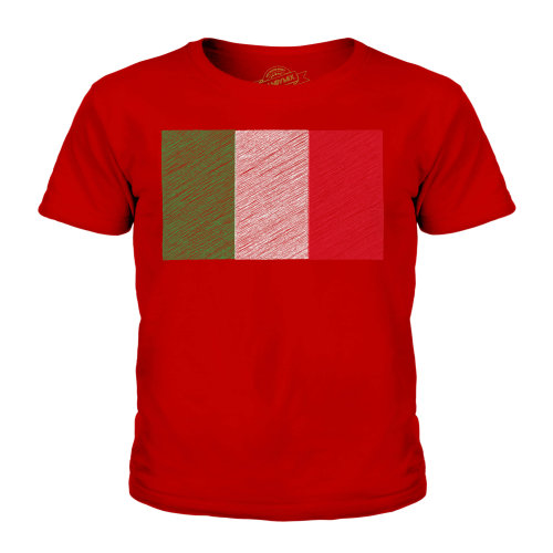 Candymix - Italy Scribble Flag - Unisex Kid's T-Shirt
