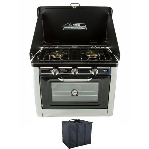 CO-01 Portable Gas Oven & Stove 2 Burner Camping Cooker