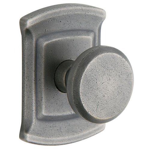 Baldwin 5023452MR Distressed Antique Nickel Estate Knobs without Rosettes