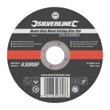 Silverline Grinding Heavy Duty Metal Disc Flat 115 x 3 x 22.23mm ( UK )