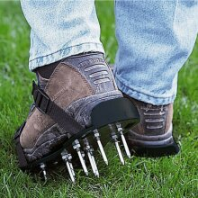29 x13cm Spikes Pair Lawn Garden Aerator Aerating Sandals Shoes