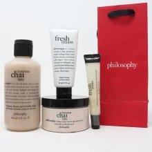 Philosophy Cinnamon Chai Latte 4 Pcs Set  / New With Bag