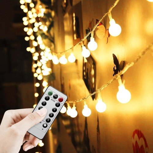 Battery Powered Fairy Lights 16FT/5M 50LED Waterproof Indoor Outdoor String Lights Battery Operated Globe Lights for...