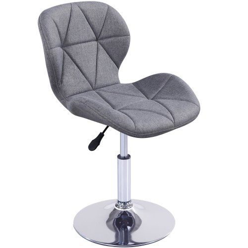 (Fabric Grey) Charles Jacobs Small Swivel Chair | Home Office Furniture