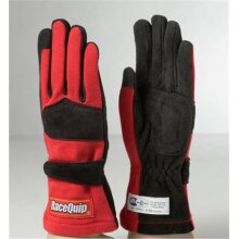 Racequip 355016 2-Layer Model SFI-5 Gloves, Red - Extra Large