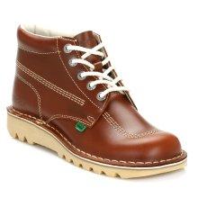 Kickers Mens Tan Kick Hi Leather Boots