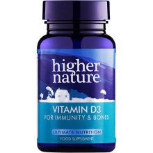 Higher Nature  Vitamin D 500iu Capsules 120s