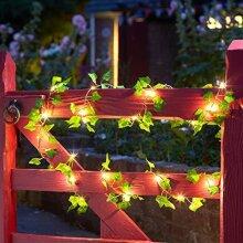 Smart Solar Ivy Firefly Solar String Lights 50 White Warm LED's 5m