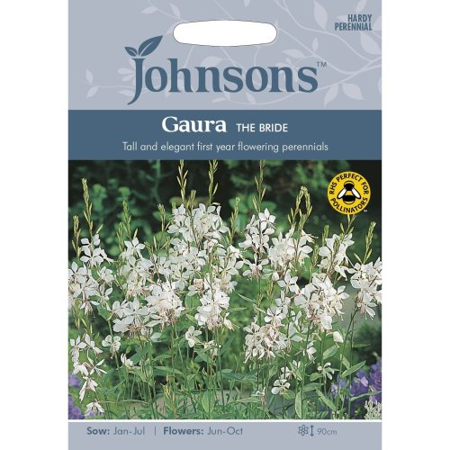 Johnsons Seeds - Pictorial Pack - Flower - Gaura The bride - 30 Seeds