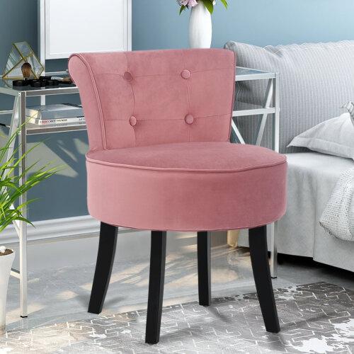 Dressing Table Chair Vanity Makeup Stool Pad Footstool