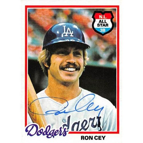 Autograph 126233 Los Angeles Dodgers 1978 Topps No. 630 Ron Cey Autographed Baseball Card