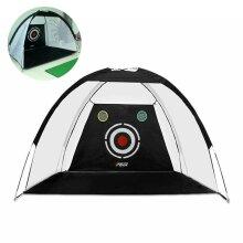 Indoor 2M Golf Practice Net Tent Hitting Cage Garden Grassland Practice Training Equipment Mesh