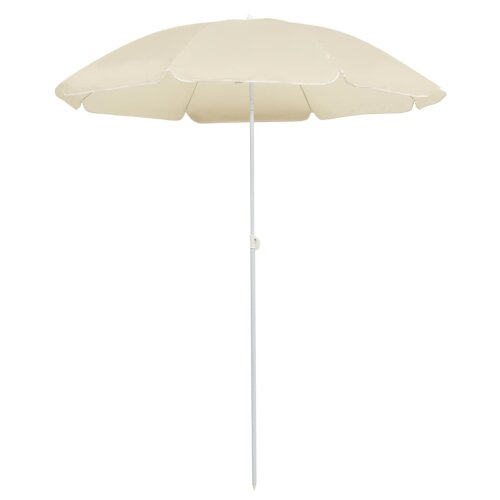 Outdoor Parasol with Steel Pole Sand 180 cm