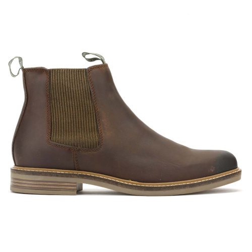 Barbour Mens Choco Brown Farsley Chelsea Boots