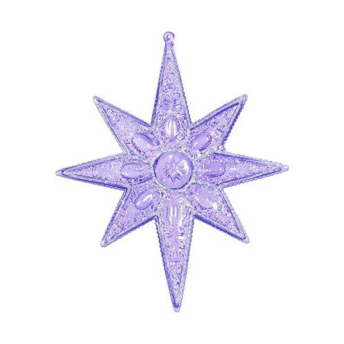 Vickerman ON160706 Purple Sculptured 8 Point Star Ornament - 7 in. - 6 Per Box