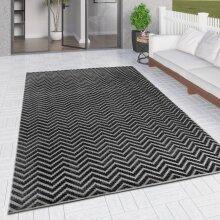 Outdoor Rug Black Grey Chevron Zig Zag for Decking Garden Patio Gazebo Large XL Small Woven Soft Geometric Mat
