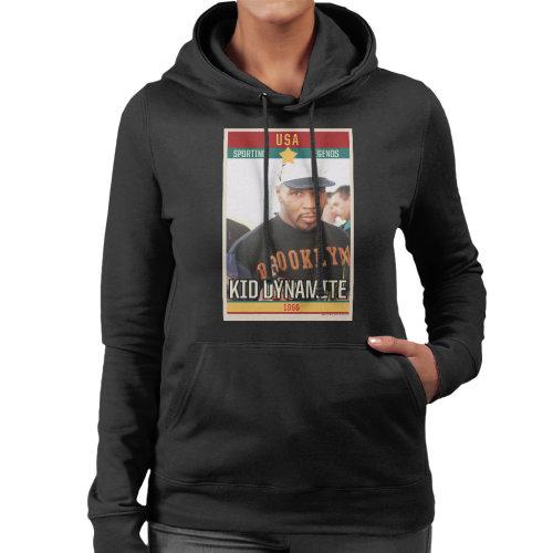 Sporting Legends Poster USA Mike Tyson Kid Dynamite Iron Mike Women's Hooded Sweatshirt
